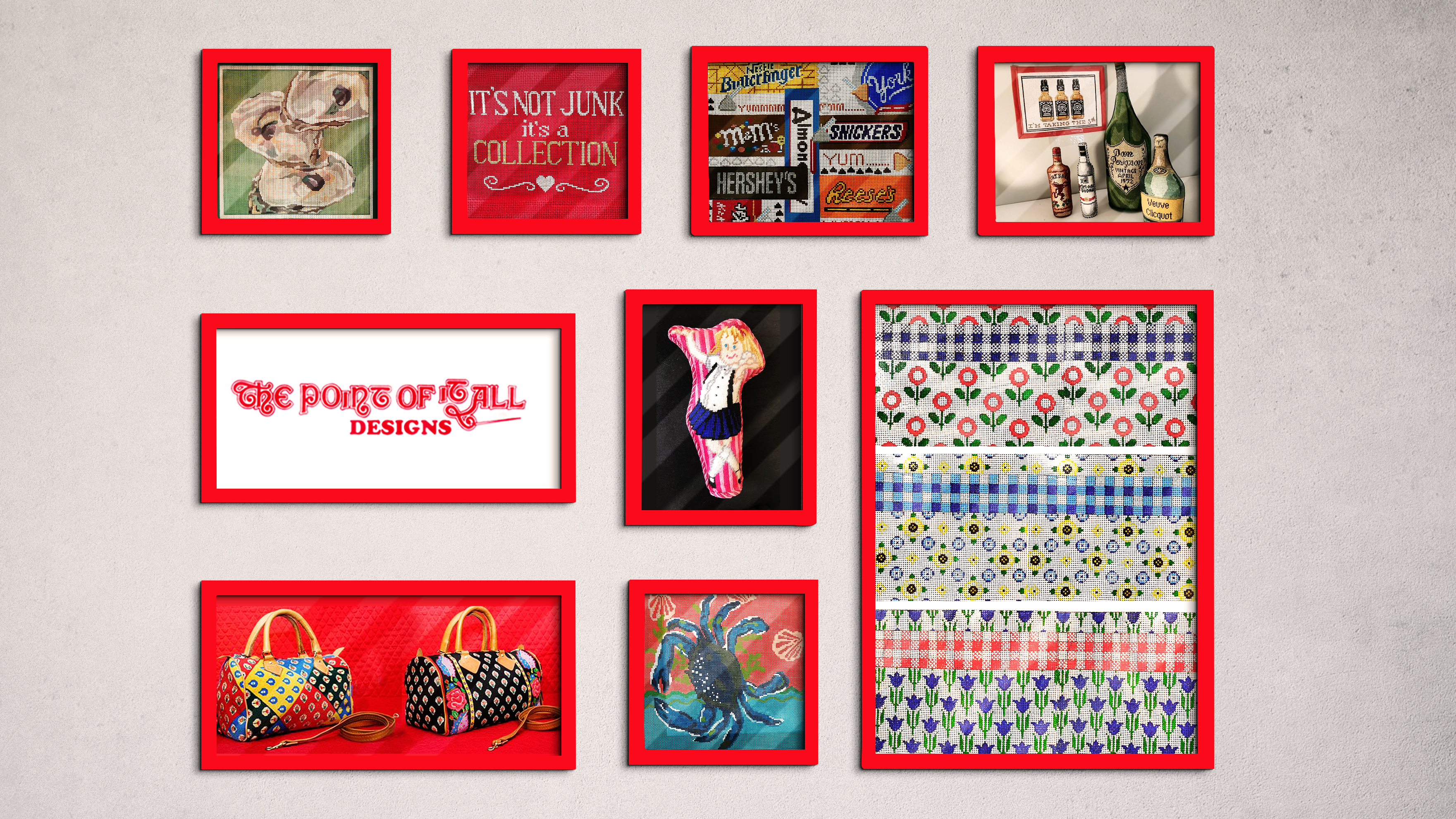 Needle Point Canvas Gallery | The Point of It All Designs
